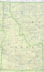 Washington State Road Map by Idaho Outline Maps And Map Links