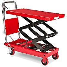 manual lift table double scissor 770 lb 36 x 20
