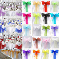 chair bows for weddings organza chair sash ebay