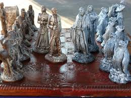 dracula v van helsing chess set customisable colours pieces