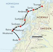 Arctic Circle Map Northern Norway And The Lofoten Islands Itinerary U0026 Map