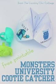 monsters university board game board games printables