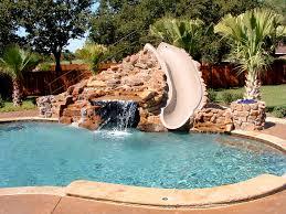 Great Pool Precious Pool Waterfall Great Swimming Pool Designs Small Slide