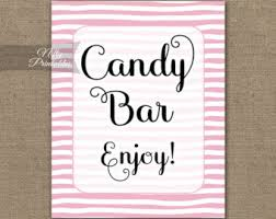 Baby Shower Candy Buffet Sign by Candy Sign Etsy