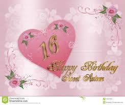 Sweet 16 Invitation Cards Sweet 16 Birthday Invitation Card Stock Photography Image 4617892