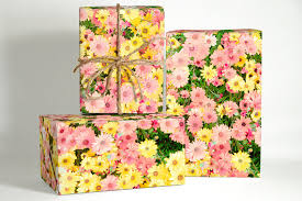 skellington wrapping paper pink summer floral wrapping paper gift wrapping summer wrapping