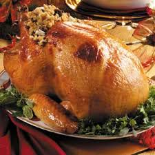 roast turkey recipe taste of home barded turkey with corn bread by country woman christmas at