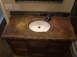 bathroom granite ideas outstanding concrete bathroom countertops design ideas with brown
