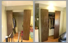 Sliding Door For Closet Closets With Sliding Barn Style Doors 6 Steps With Pictures