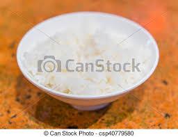 cuisiner du riz blanc table riz blanc cuit vapeur tasse images rechercher