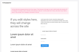 the style guide template webflow