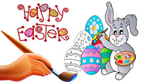 happy easter bunny coloring pages video for kids youtube