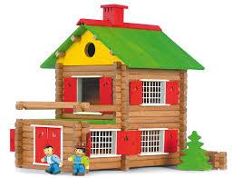 construire son chalet en bois jeujura jouet en bois chalet suisse 175 pieces amazon fr
