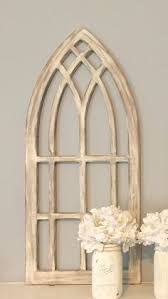 Ideas Design For Arched Window Mirror Window Frame Distressed White Gothic Arched By Cassedywooddesigns