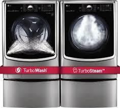 Lg Washer Pedestal White Lg Wm5000hva Front Load Washer U0026 Dlex5000v Electric Dryer W