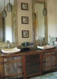 Rustic Bathroom Vanities For Vessel Sinks Bathroom Furniture Rustic Vanities Barnwood Vanity Hammered