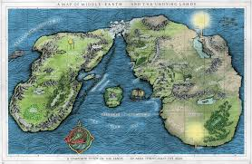 Fantasy World Maps by Tolkiens Legendarium Is This Map Of Middle Earth Reliable