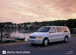 chrysler minivan chrysler town u0026 country minivan in camden maine usa 1993 stock