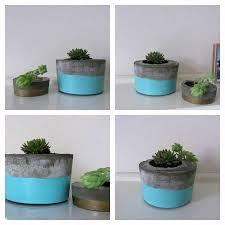 concrete planters diy concrete planter l style curator shows you how