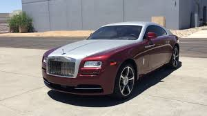 roll royce red rolls royce wraith red velvet scottsdale az youtube
