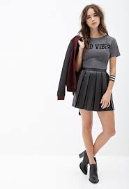 pleated skirt forever 21 forever 21 faux leather pleated skirt where to buy how to wear
