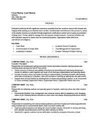 Veterinary Resume Examples by Founder Or President Resume Template Premium Resume Samples