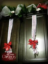 Holiday Kitchen Cabinets A Lauer Christmas Home Tour Cardinals Candy Canes U0026 Burlap