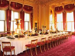 a royal dining table set for a victorian christmas windsor f c