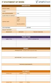 sow template free statement of work templates smartsheet