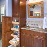 Bathroom Cabinet Tall by Bathroom Classic Brown Mahoagny Wood Bath Cabinet With Glass Door