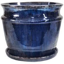 18 1 2 in x 15 1 2 in ceramic round planter s18 5 00 the home