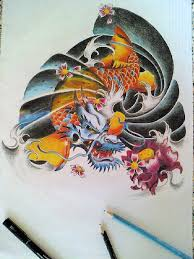 100 koi dragon tattoo design koi dragon tattoo koi dragon