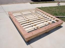 bedroom simple platform bed frame plank bed queen platform bed