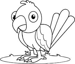 parrot coloring sheet eliolera