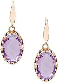 amethyst drop earrings tacori 18k925 amethyst drop earrings se103p13