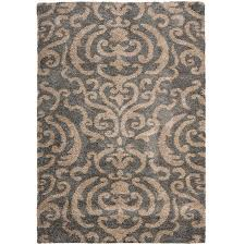 Damask Kitchen Rug Safavieh Florida Shag Ornate Grey Beige Damask Area Rug 8 6 X 12