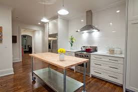 contemporary kitchen carts and islands butcher block island kitchen contemporary with utility pendants
