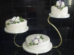 3 tier swan chrome wedding cake stand hire hampshire new forest