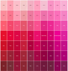 logo pantone color matching red and pink paintings and paper art