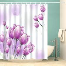 Pink Flower Shower Curtain T4curtain Page 5 Blue Fabric Shower Curtain Touch Of Class