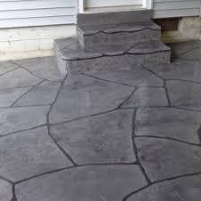 Decorative Concrete Kingdom Grand Flagstone Stamped Concrete Rochester New York Ultimate