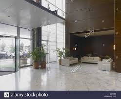 reception lobby in a modern hotel stock photo royalty free image