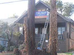 How To Hang Christmas Lights On House by Oakland Landlord Evicts Tenant Then Hangs Pro Trump Billboard On