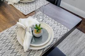 project medina model home table setting ml interiors group
