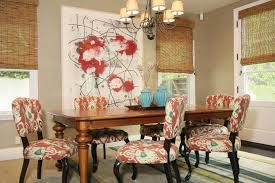 Red Dining Room Chair Ikat Dining Chairs Contemporary Dining Room Jenn Feldman Designs