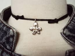 flower necklace etsy images Retro flower choker retro flower necklace boho flower necklace jpg