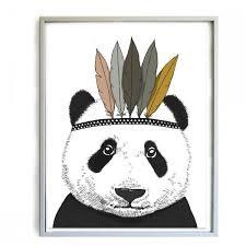 affiche chambre minimel affiche panda décoration chambre enfant