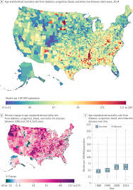 Map Of South Dakota Counties Us County Level Trends In Mortality Rates For Major Causes Of