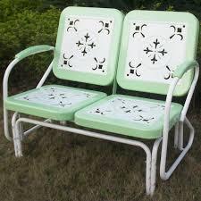 4d concepts metal retro glider bench u0026 reviews wayfair