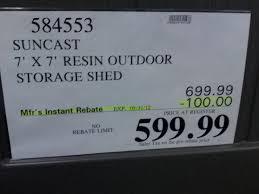 outdoor storage buildings costco lifetime 8 x 7 5 storage